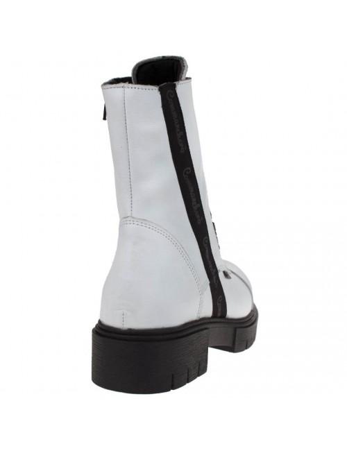 Γυναικείο μποτάκι COMMANCHERO δερμάτινο λευκό L2000099301